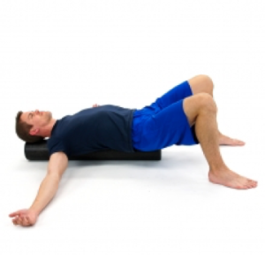 foam roll- upper chest stretch